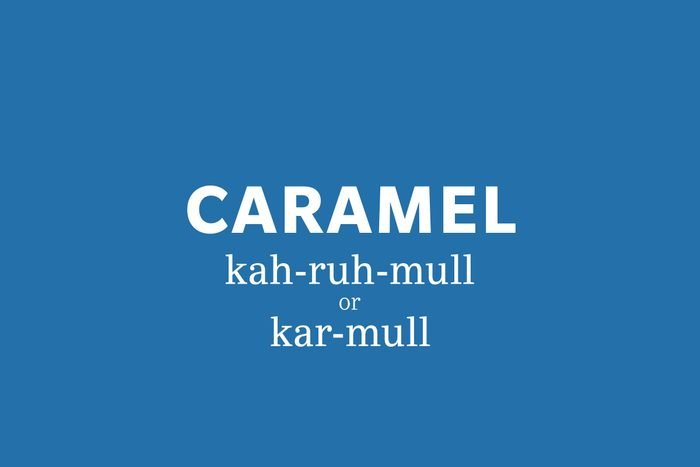 caramel pronunciation
