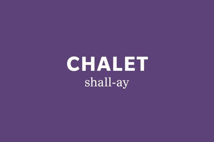 chalet pronunciation