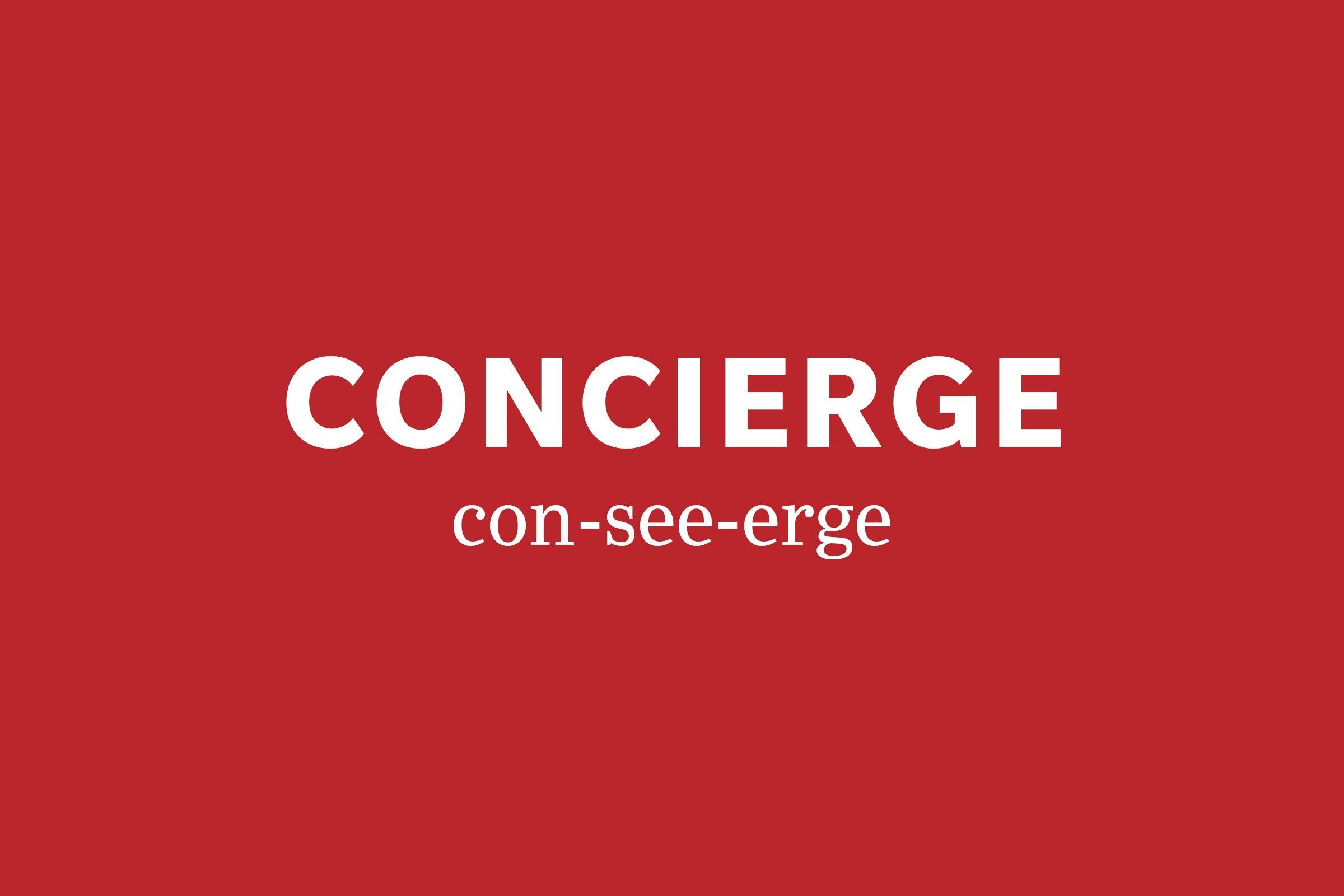 concierge pronunciation
