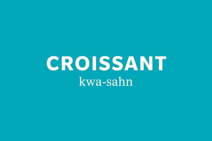 croissant pronunciation