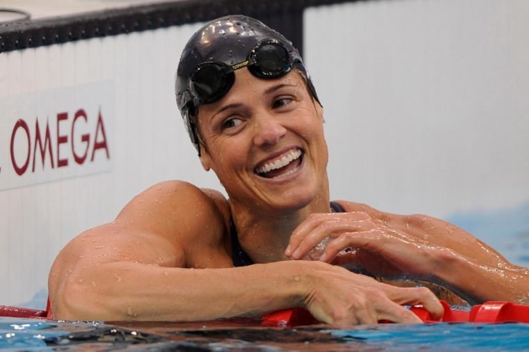 Dara Torres United States' Dara Torres reacts after winning the silver medal in the women's 50-meter freestyle final during the swimming competitions at the Beijing 2008 Olympics in Beijing. Torres is one of a number of athletes who competed when they were closer to their getting their AARP cards than being in their physical prime
