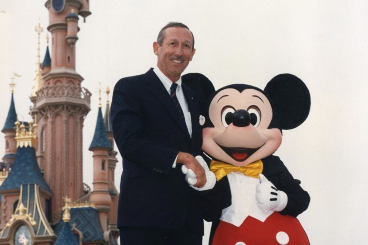 Roy Disney Son Of Roy Oliver And Nephew Of Walt Disney Is Pictured At The Opening Of Euro Disney. Roy Died Of Stomach Cancer 17/12/2009 At The Age Of 79.