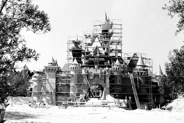 Disneyland - Sleeping Beauty Castle under construction - 1955.