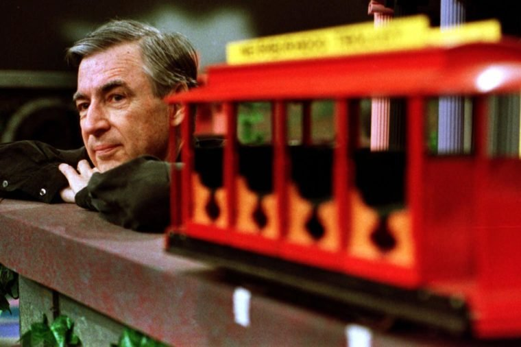 "FRED ROGERS Fred Rogers pauses during a taping of his show "" Mister Rogers' Neighborhood,"" in Pittsburgh"
