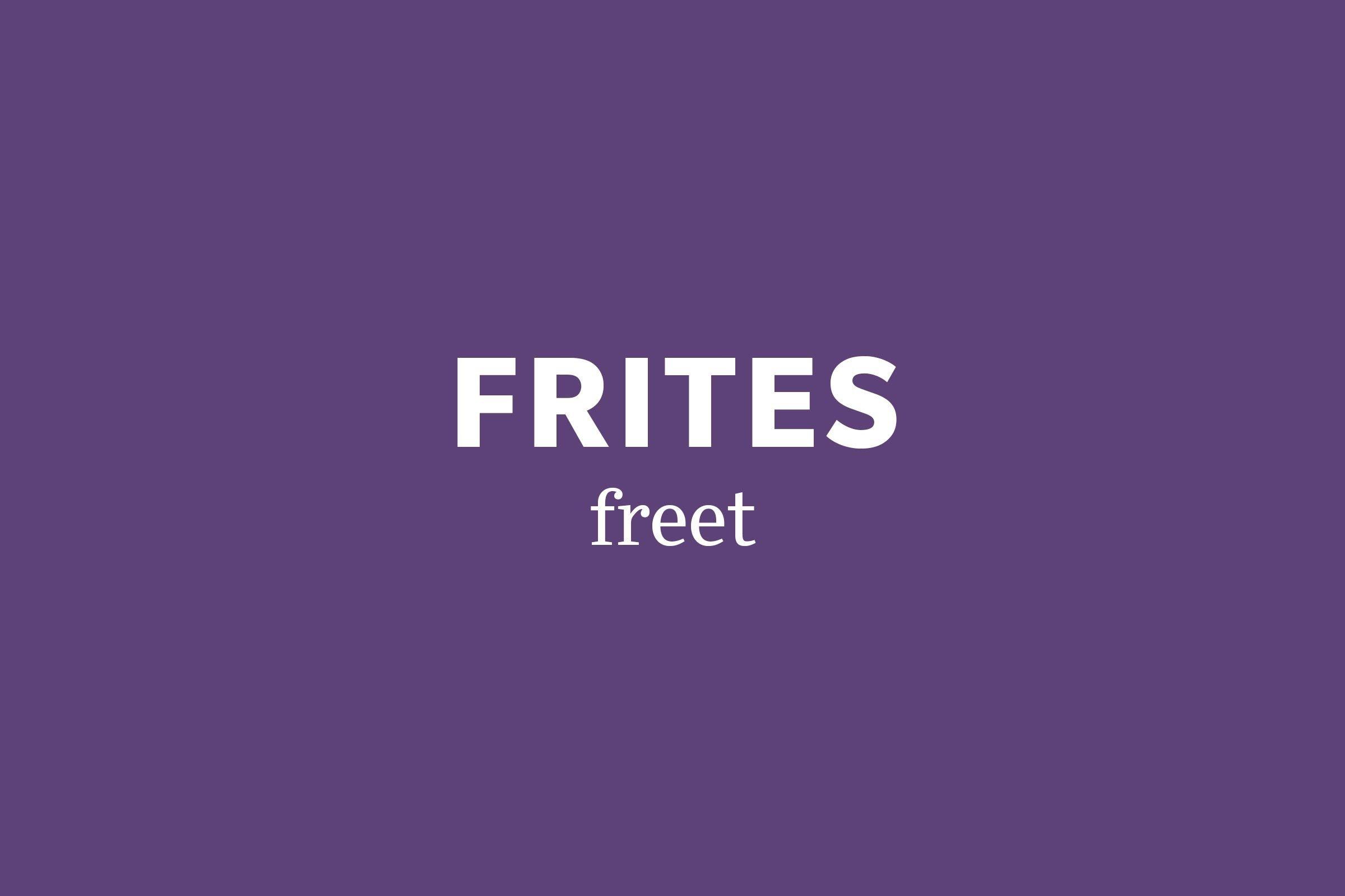 frites pronunciation
