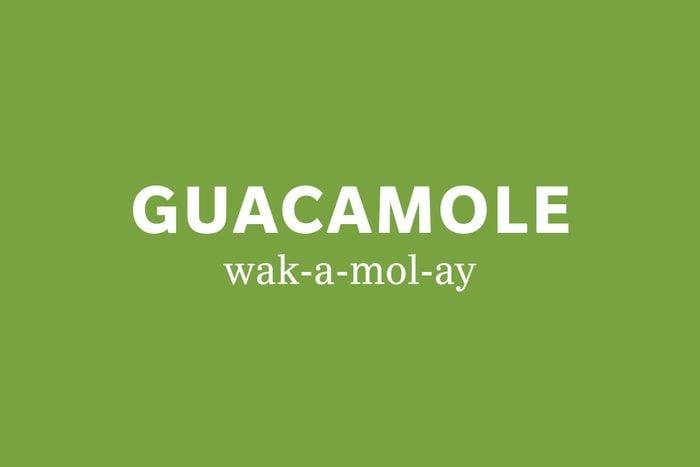 guacamole pronunciation