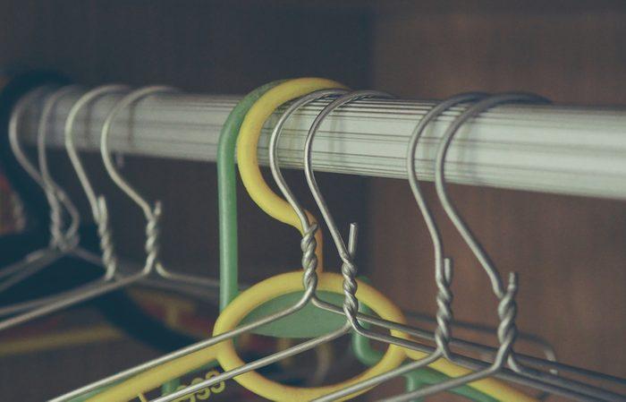 Aluminum and plastic clothes hangers