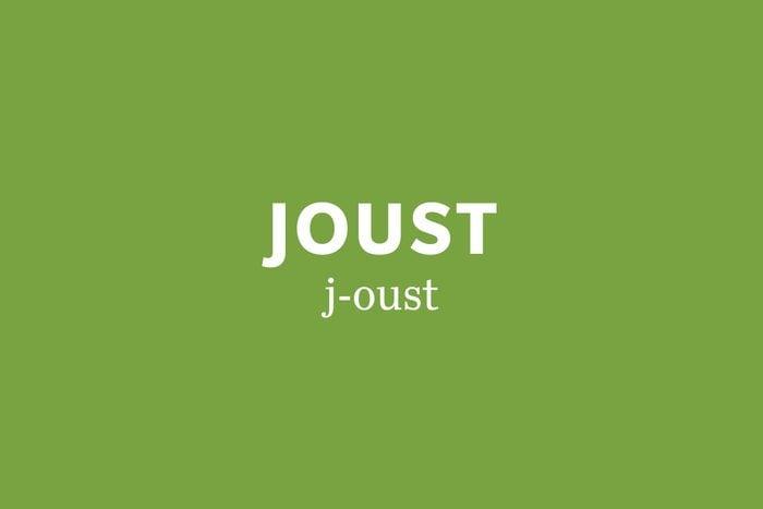 joust pronunciation