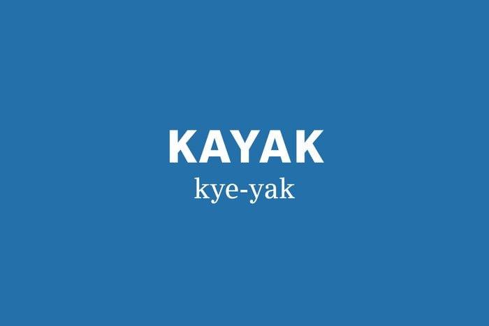 kayak pronunciation