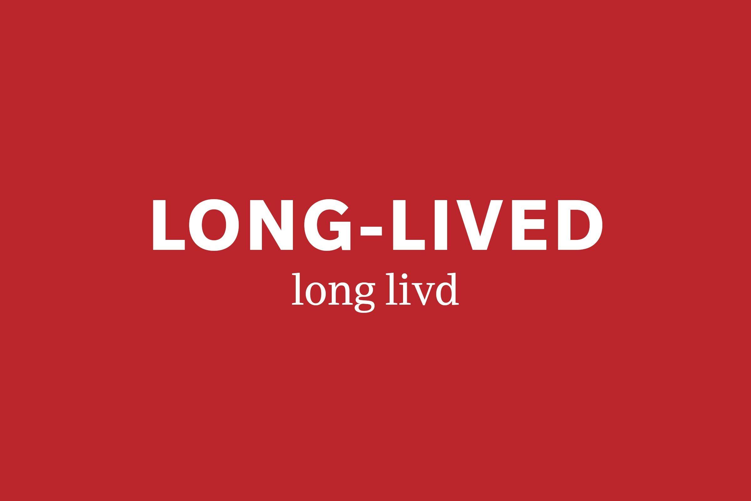 long-lived pronunciation