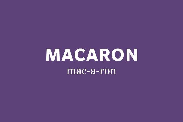 macaron pronunciation