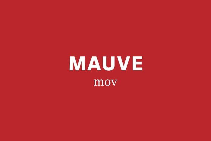 mauve pronunciation