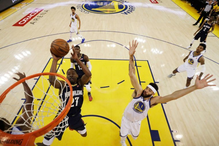 New Orleans Pelicans at Golden State Warriors, Oakland, USA - 28 Apr 2018