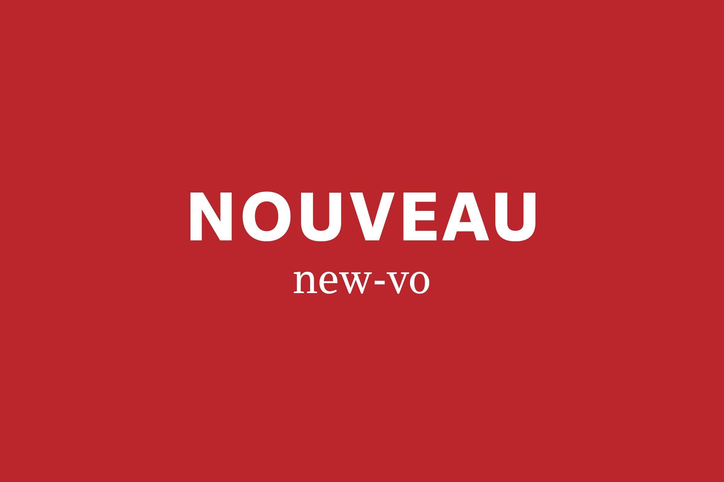 nouveau pronunciation