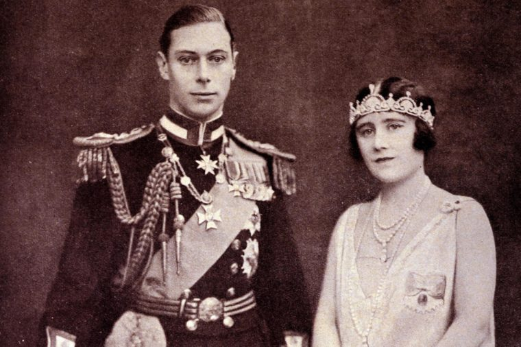 Photograph of the Duke and Duchess of York. A formal photograph of the late King George VI (1895 - 1952) and Queen Elizabeth, the Queen Mother (1900 - 2002). 1928