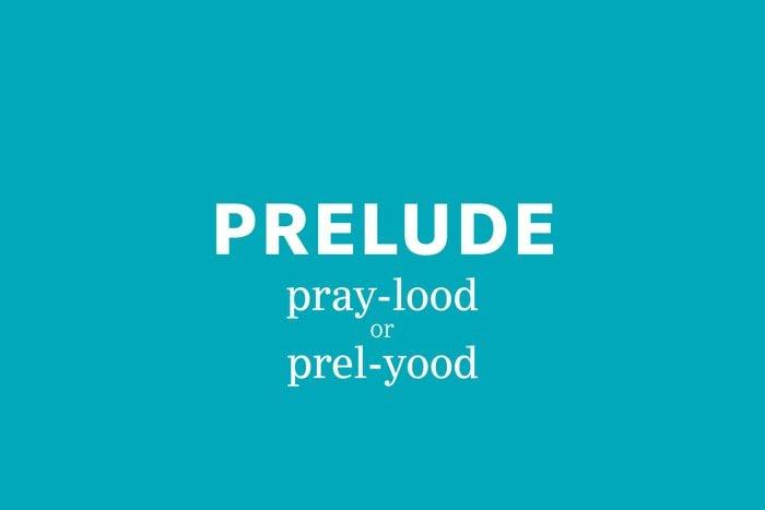prelude pronunciation