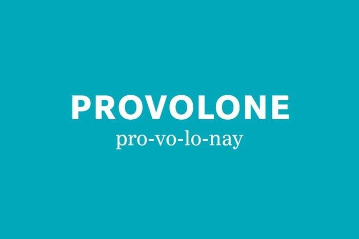 provolone pronunciation