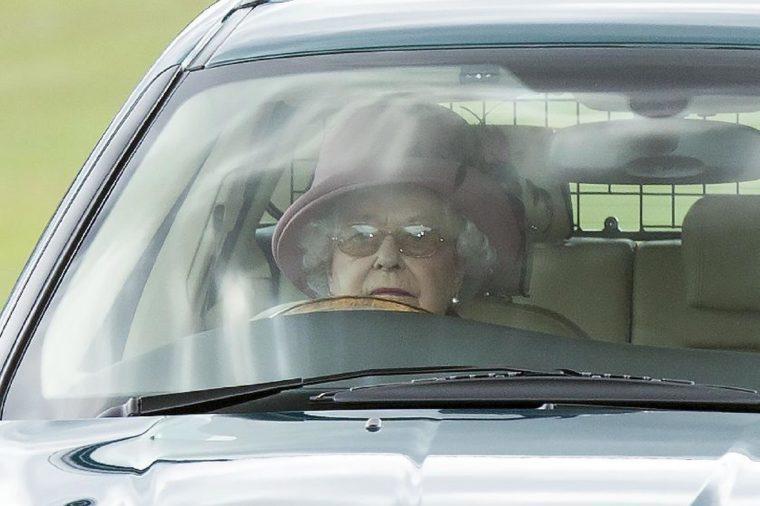 Queen Elizabeth II driving in Windsor Great Park, Berkshire, Britain - 19 Jul 2015