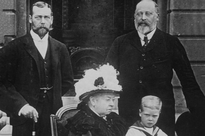 QUEEN VICTORIA, KING GEORGE V, KING EDWARD VIII, KING EDWARD VII - 1895