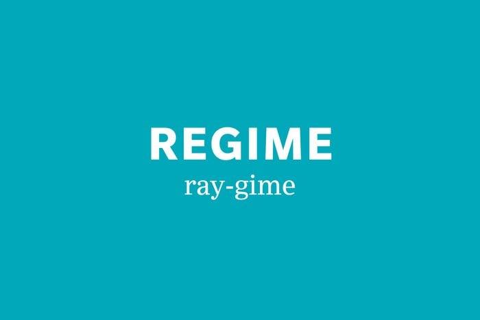 regime pronunciation