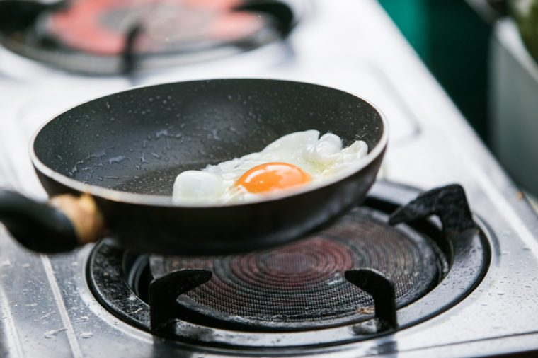cooking an egg