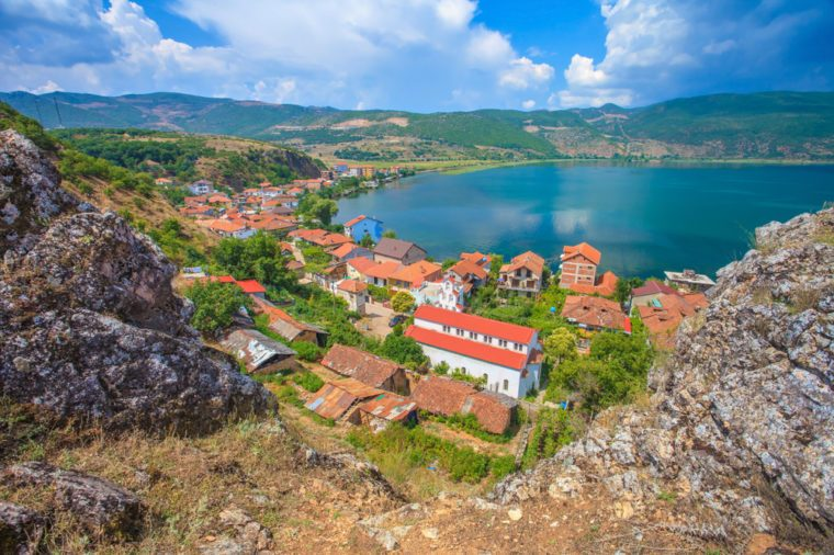 The village of Lin, near the Ohrid lake, albania