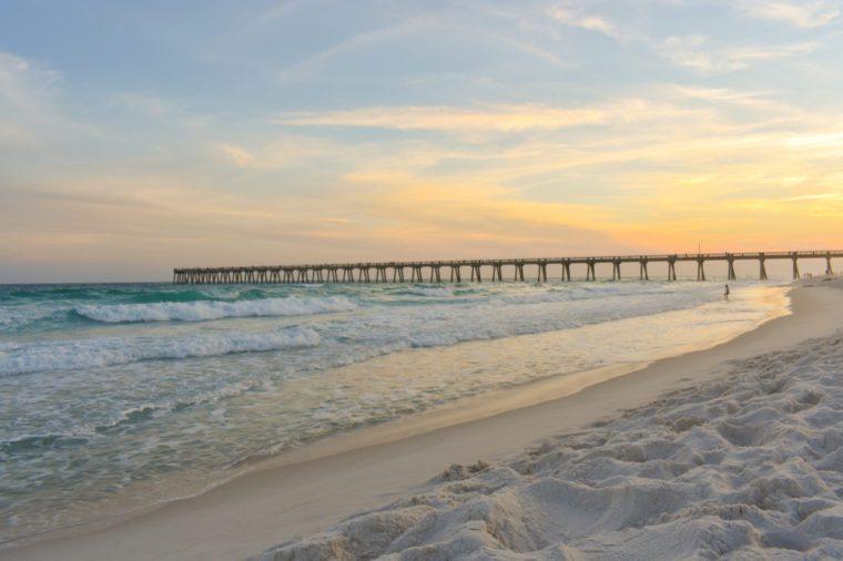 Sunset at Navarre Beach Florida
