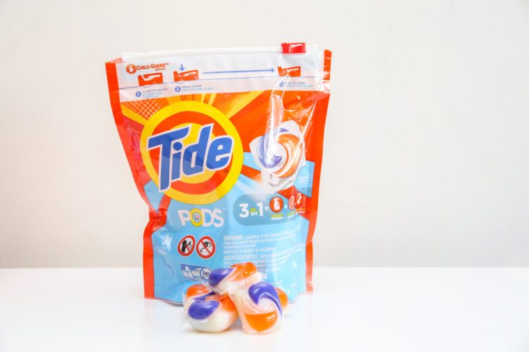 Winnipeg, Manitoba / Canada - May 19, 2018: Tide laundry product in an isolated background