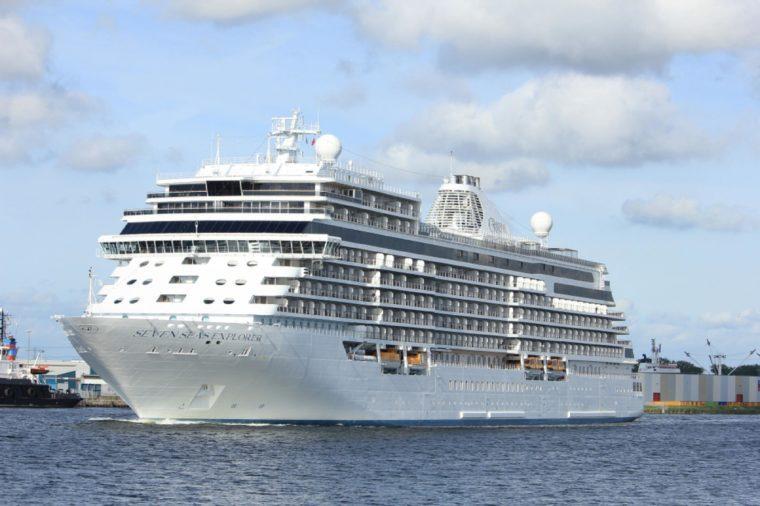Seven Seas Explorer - Regent Cruises on North Sea Channel, towards North Sea