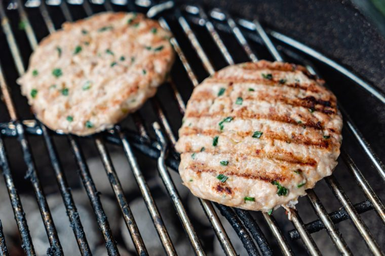 grilled cutlet for burgers