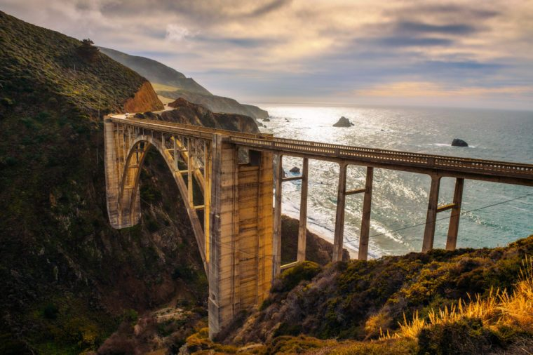 Bixby Bridge and Pacific Coast Highway near Big Sur in California, USA