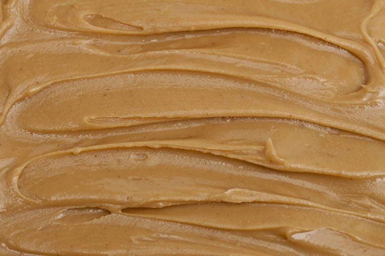 Close up of peanut butter spread