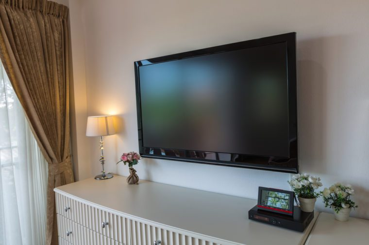 Modern television in living room
