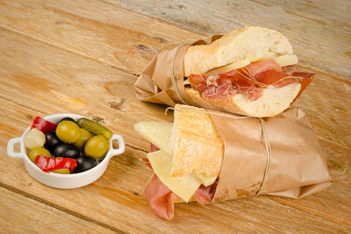 Traditional Spanish sub together with a pickles tapa
