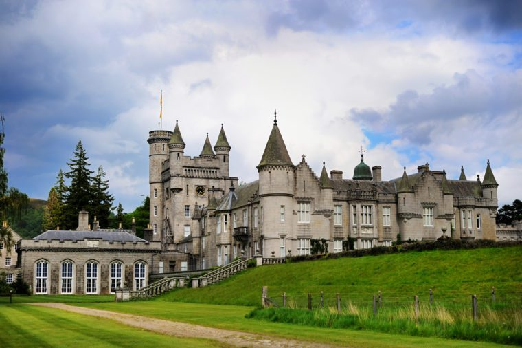 Scenic summer view of Balmoral castle, summer home of the British royal family