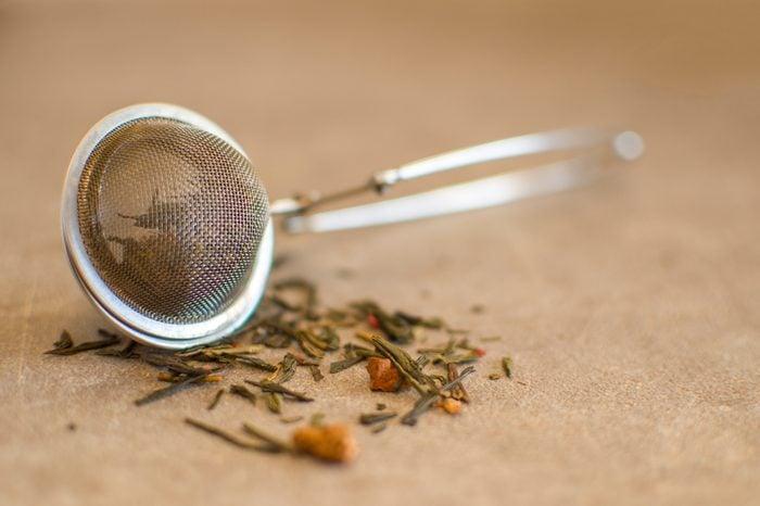 tea strainer antique ball with tea