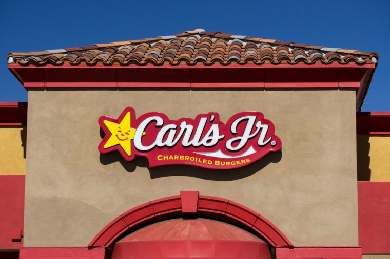 Carl's Jr. Restaurant exterior. Carl's Jr., an American-based fast-food restaurant chain with locations in the Western and Southwestern states.