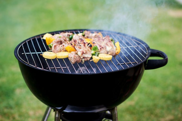 Barbecue on the grill.