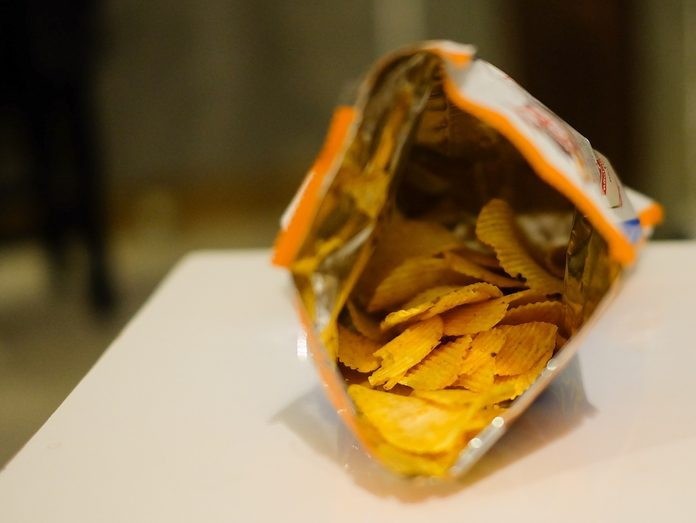 potato chips in a bag