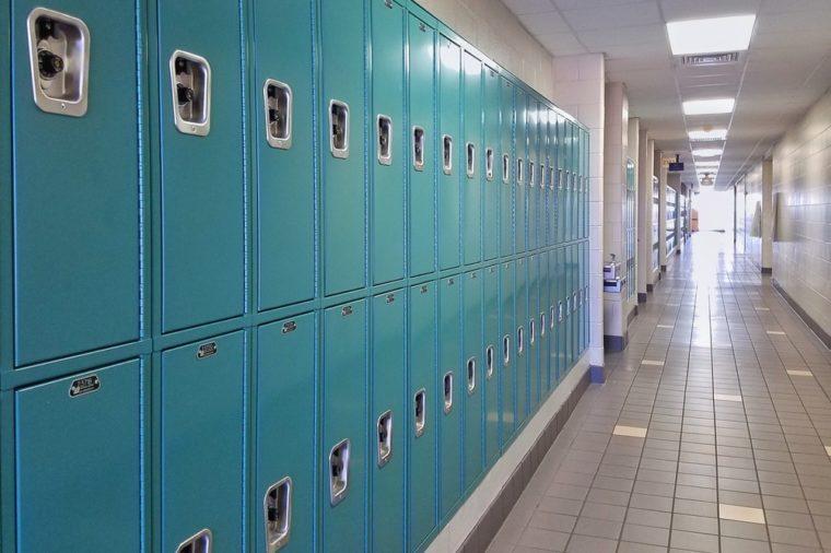 Lockers at high school