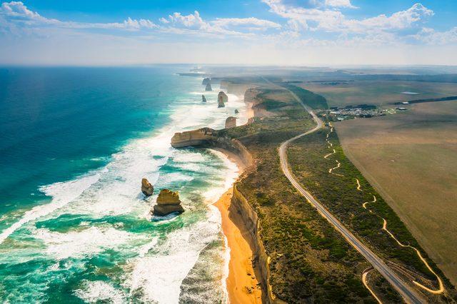 Amazing Nature of Twelve Apostles by the Great Ocean Road in Australia.