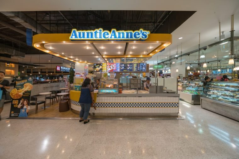 Auntie Anne's at the Mall Ngamwongwan on May 13, 2017 in Bangkok, Thailand.