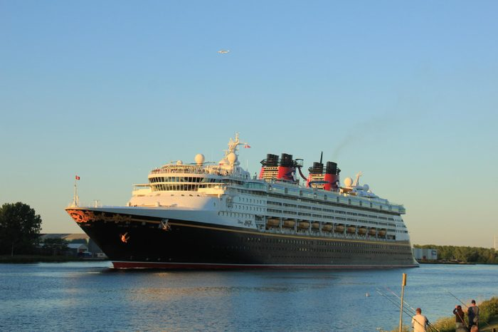 Disney Magic on North Sea Canal.