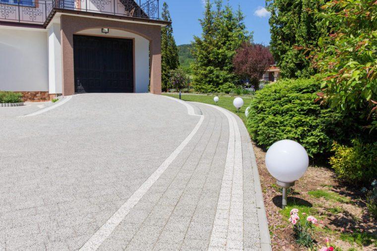 Modern driveway