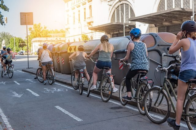 Bike tour in barcelona