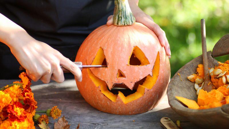 carve pumpkins for Halloween
