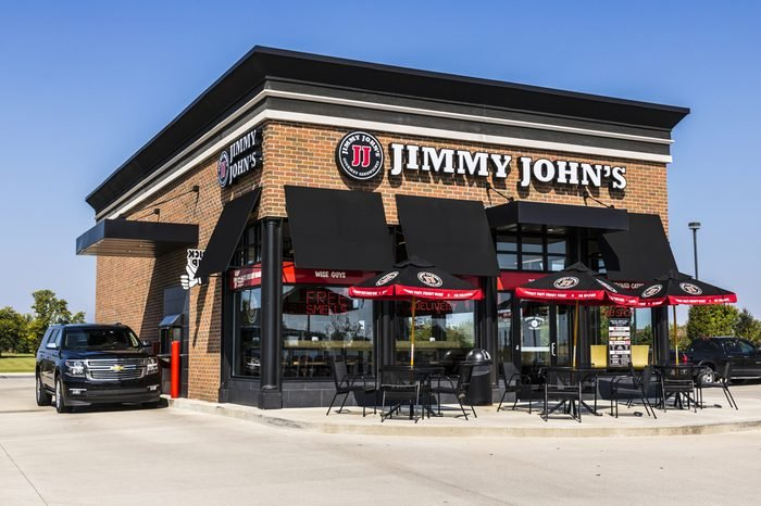Jimmy John's Gourmet Sandwich Restaurant. Jimmy John's is known for their fast delivery