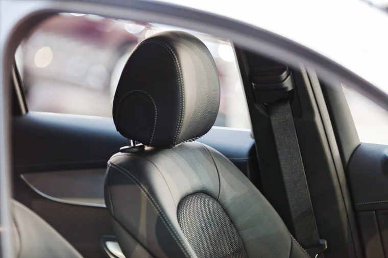 the interior of a new car
