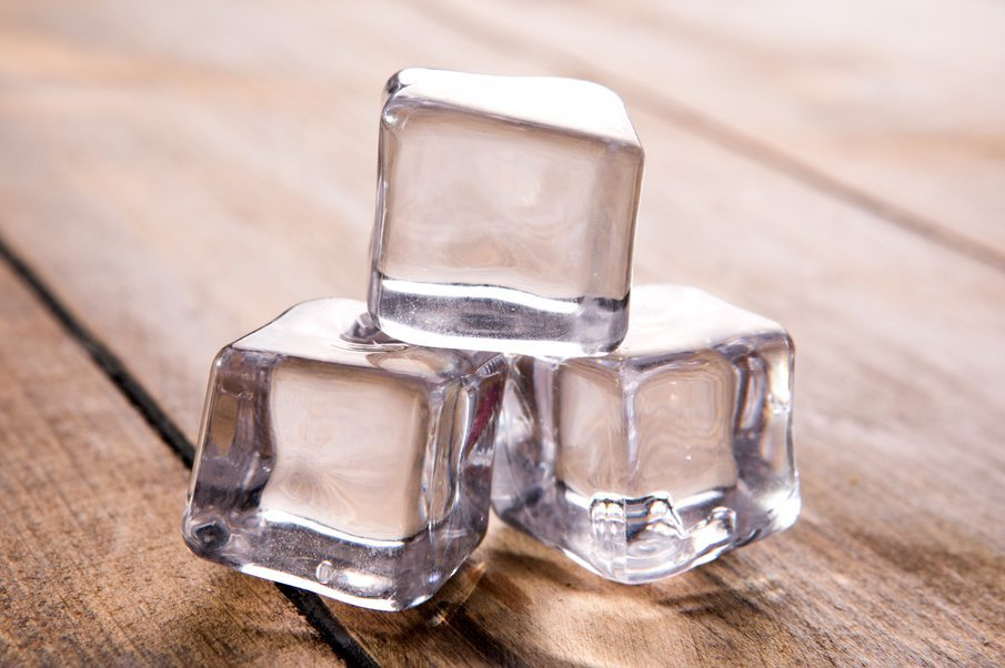 ice cubes for bug bite relief