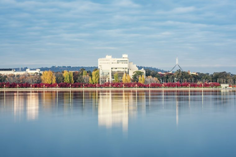 Burley Griffin Lake at Dawn in Canberra
